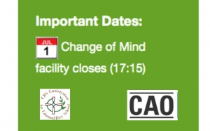 Reminder- CAO Change of Mind Closes July 1st @ 17:15